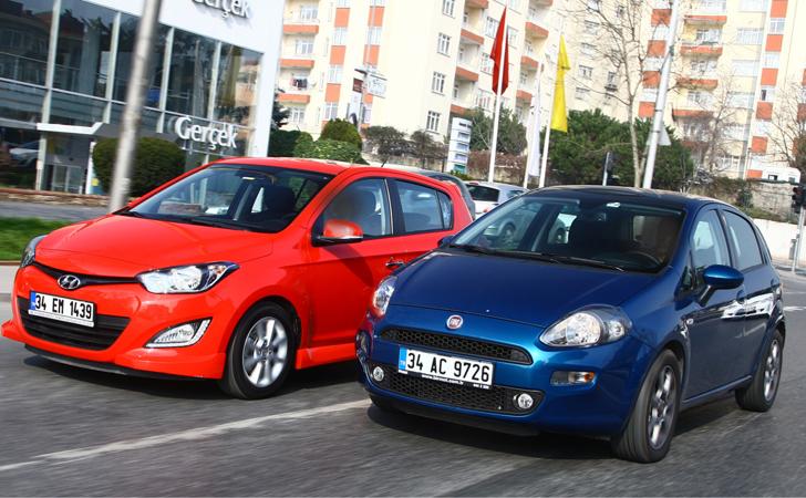 Fiat Punto ve Hyundai i20