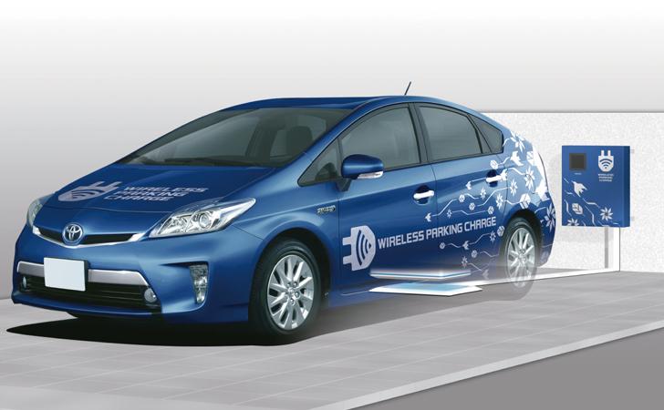 elektrikli araç kablosuz şarj toyota prius hibrid
