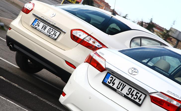 Renault Fluence ve Toyota Corolla