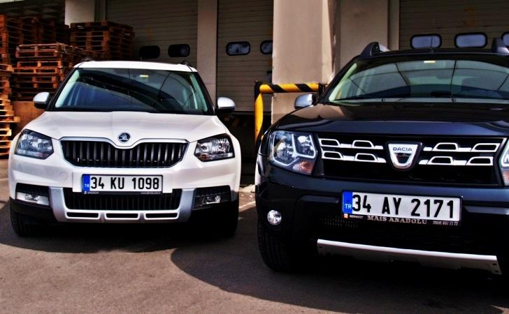 Dacia Duster ve Skoda Yeti