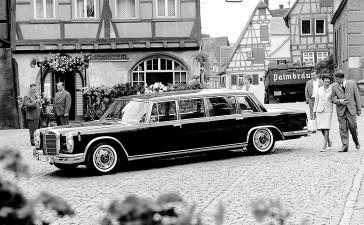 Mercedes-Benz Typ 600 Pullman-Limousine (4 Türen) aus dem Jahre 1967