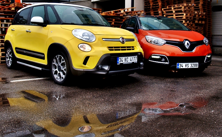 Fiat 500L ve Renault Captur