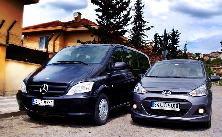 Hyundai i10 ve Mercedes Vito