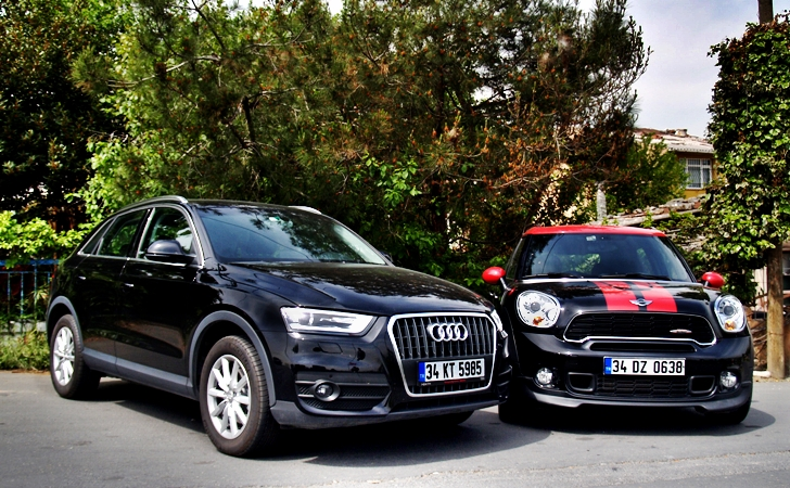 Audi Q3 ve Mini Countryman