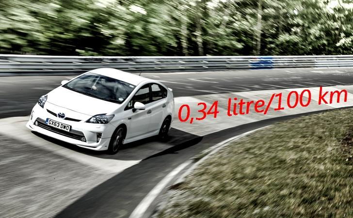 Toyota'dan Nurburgring tüketim rekoru: 100 km'de 0,34 litre