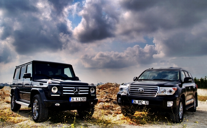 Mercedes G Serisi ve Toyota Land Cruiser V8