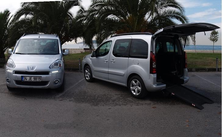 Peugeot Partner Tepee Tekerlekli Sandalye Taşıyıcı