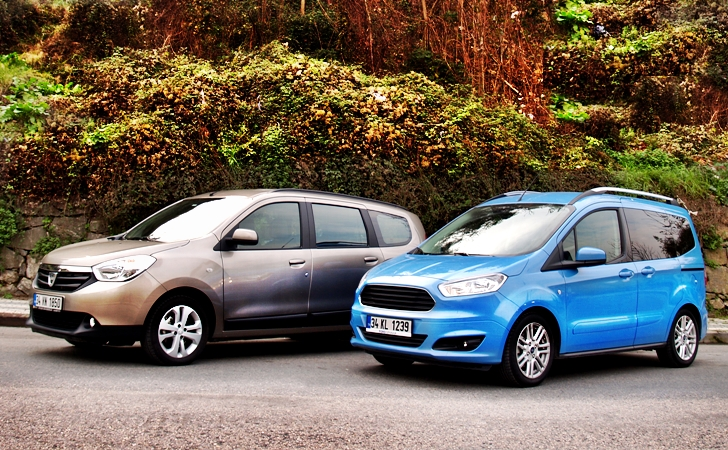 Dacia Lodgy ve Ford Tourneo Courier
