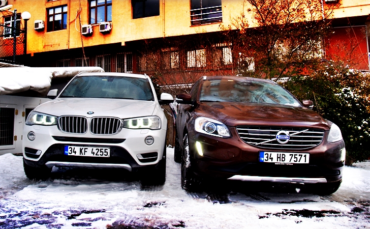 BMW X3 ve Volvo XC60
