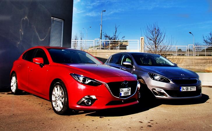 Mazda3 ve Peugeot 308