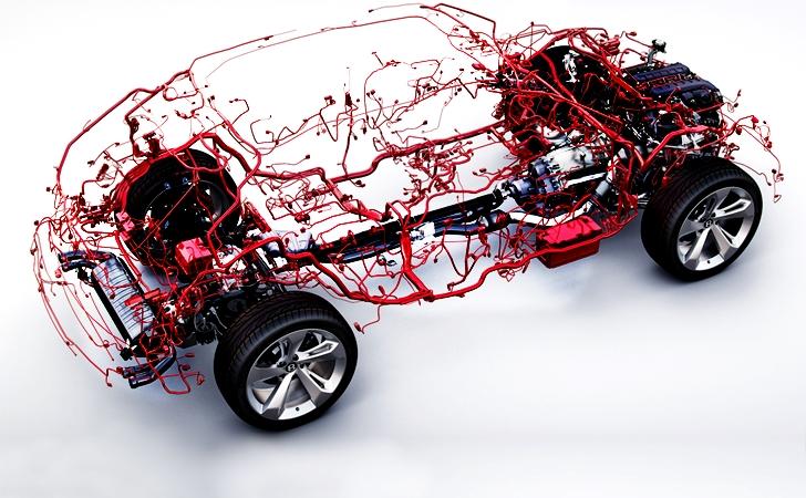 Otomobil sanatı: Bentley Bentayga ve kablo ağı
