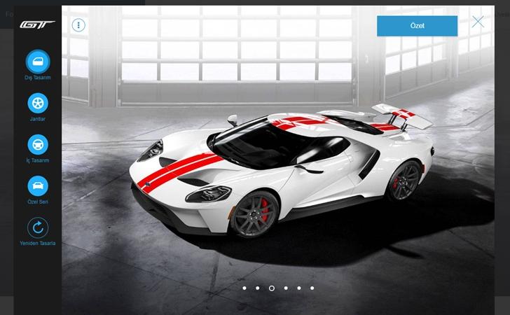 Ford GT konfigüratörü açıldı